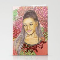 ariana grande Stationery Cards featuring Ariana II by Share_Shop