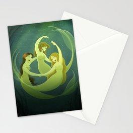 Three Mermaids Stationery Cards