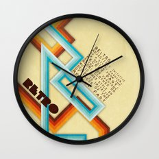 Retro Meaning Wall Clock