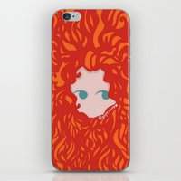 merida iPhone & iPod Skins featuring Merida by Glopesfirestar