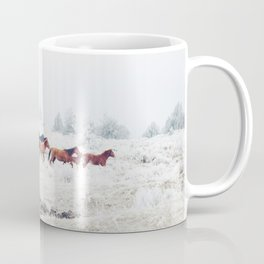Winter Horse Herd Coffee Mug