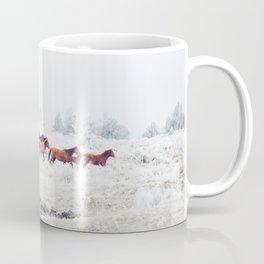 Winter Horse Herd Coffee Mug