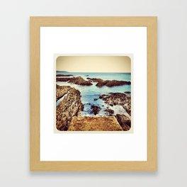 Rocky Beach - Instagram Framed Art Print