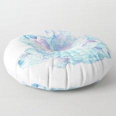 Pink Blue Crystal Cluster Floor Pillow
