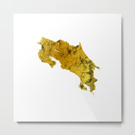 Costa Rica | Pura Vida | Gold Metal Print