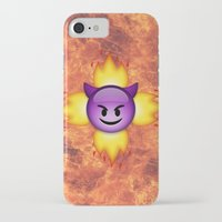 emoji iPhone & iPod Cases featuring Devil Emoji by jajoão