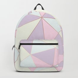 Pastel colors modern geometric triangles pattern Backpack