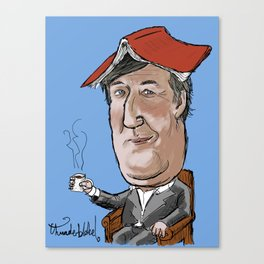 Stephen Fry not reading a book Canvas Print