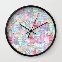 Market Place Jugs Wall Clock