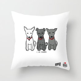 3 Musketeers, I Love Bali Dogs Throw Pillow