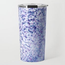 Ice Blue Crackle Marble Watercolor Texture Travel Mug