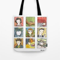 twin peaks Tote Bags featuring Twin Peaks by Steven Learmonth
