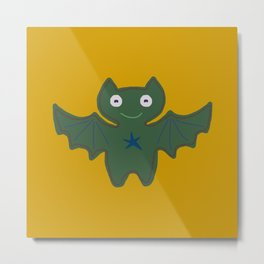 Green Bat Metal Print