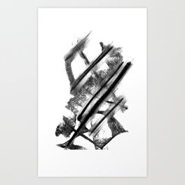 Minimalist Charcoal Gesture Drawing Art Print