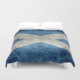 Flag of Scotland, Vintage Retro Style Duvet Cover