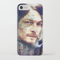 daryl dixon iPhone & iPod Cases featuring Daryl Dixon by András Récze
