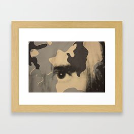 Eye surimpression Framed Art Print