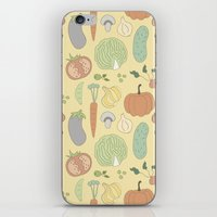 vegetable iPhone & iPod Skins featuring Vegetable Salad by akaink