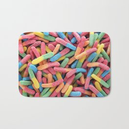 Rainbow Gummy Worms Bath Mat