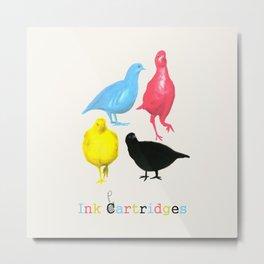 Ink Partridges! Metal Print