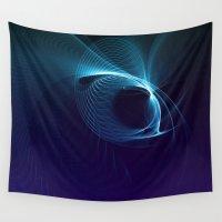 matrix Wall Tapestries featuring Blue Matrix by zAcheR-fineT