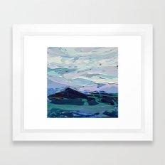 Blue Ridge Peak Framed Art Print