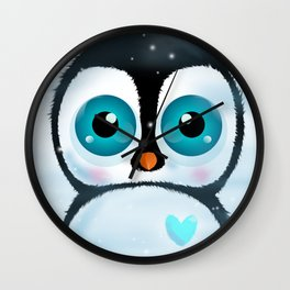 Joc the Penguin Wall Clock