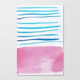 23    |181026 Lines & Color Block | Watercolor Abstract | Modern Watercolor Art Canvas Print
