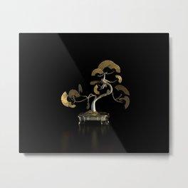 Oriental Fan Tree - Gold Metal Print