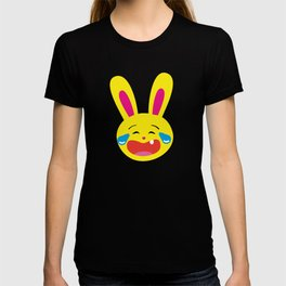 One Tooth Rabbit Emoticons Bunny Face with Tears of Joy T-shirt