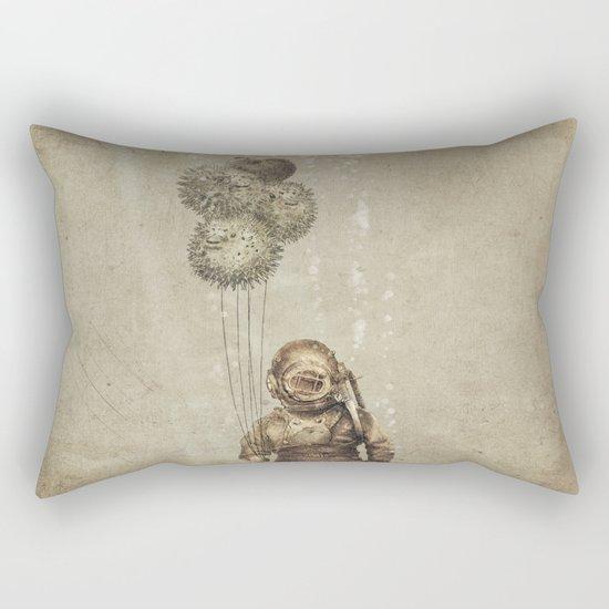 Balloon Fish (Sepia) Rectangular Pillow