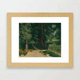 The Avenue at the Jas de Bouffan Framed Art Print