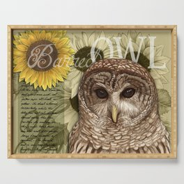 The Barred Owl Journal Serving Tray