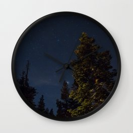 Starry Trees Wall Clock
