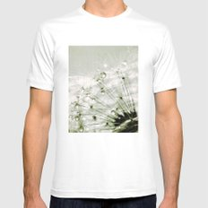 droplets White MEDIUM Mens Fitted Tee