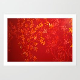 Gold Cherry Blossoms Art Print