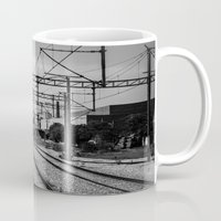 train Mugs featuring Train by Maressa Andrioli