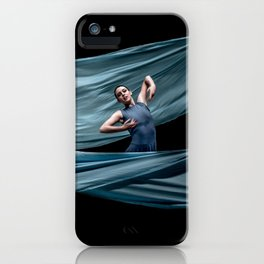 Dancing in rough blue waters iPhone Case