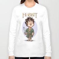 the hobbit Long Sleeve T-shirts featuring The Hobbit by Roberto Núñez