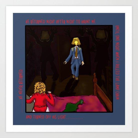 Lampshade Man Fright Art Print