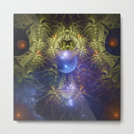Magic in universe, fractal abstract Metal Print