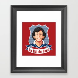 Le Roi du foot Framed Art Print