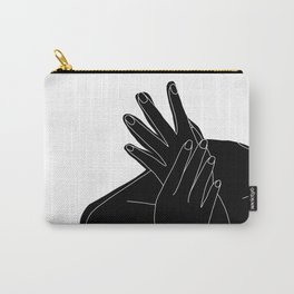 Black and white figure - Emmy Carry-All Pouch