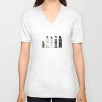 8 bit V-neck T-shirts featuring Star Wars 8-Bit by Eight Bit Design