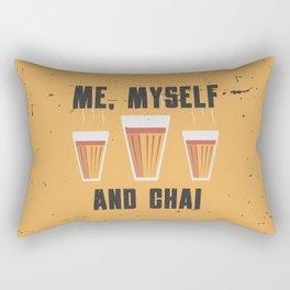 Funny Me Myself Chai Quote Rectangular Pillow