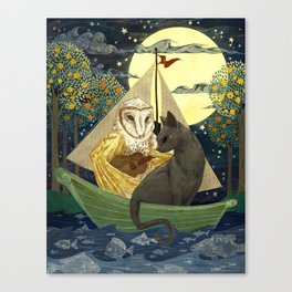The Owl and the Pussycat Canvas Print