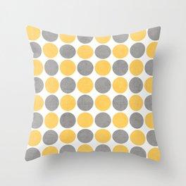 summer time dots Throw Pillow