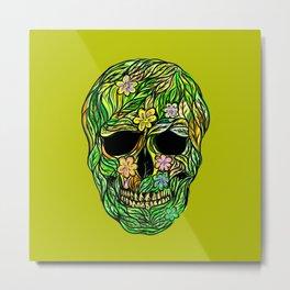 Skull Nature Metal Print