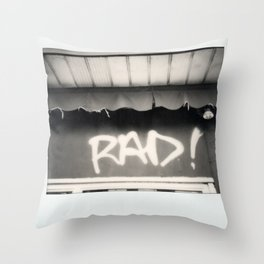 Rad Spectra B&W Throw Pillow
