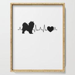 Samoyed heartbeat sled dog Samoeds Serving Tray